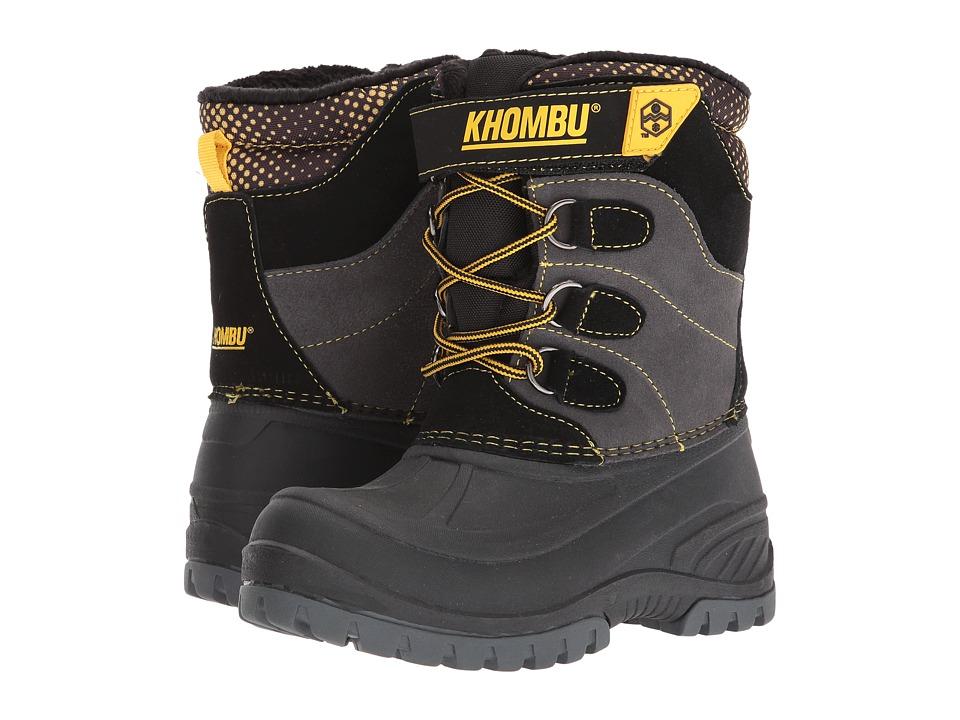 Khombu Kids Snowtracker (Little Kid/Big Kid) (Grey/Yellow) Boys Shoes