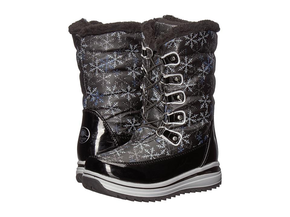 Khombu Kids Kala (Little Kid/Big Kid) (Black) Girls Shoes