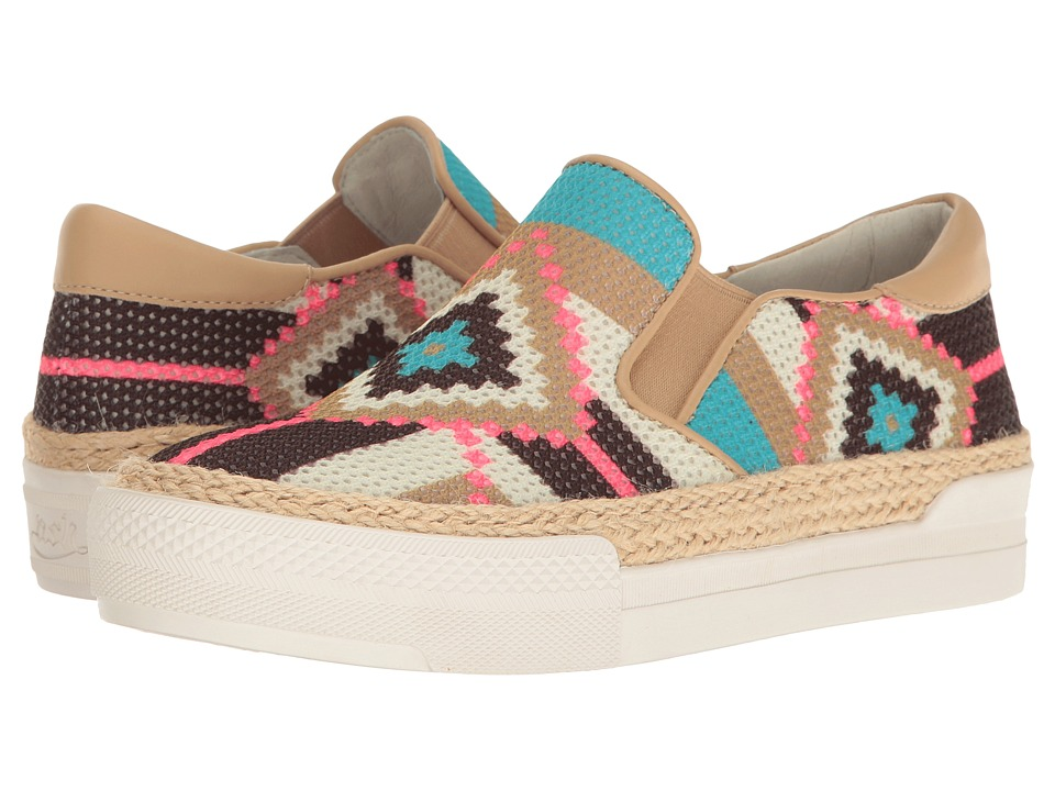 ASH - Colombia (Sky/Sand Knit/Nappa Wax) Women's Shoes