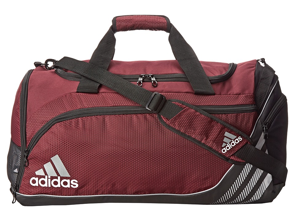 adidas - Team Speed Medium Duffel (Light Maroon/Black) Duffel Bags