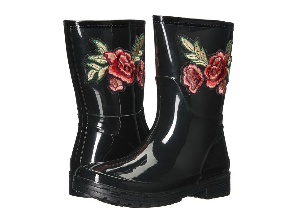 Kenneth Cole Unlisted - Rain Flower (Black PVC) Women's Rain Boots