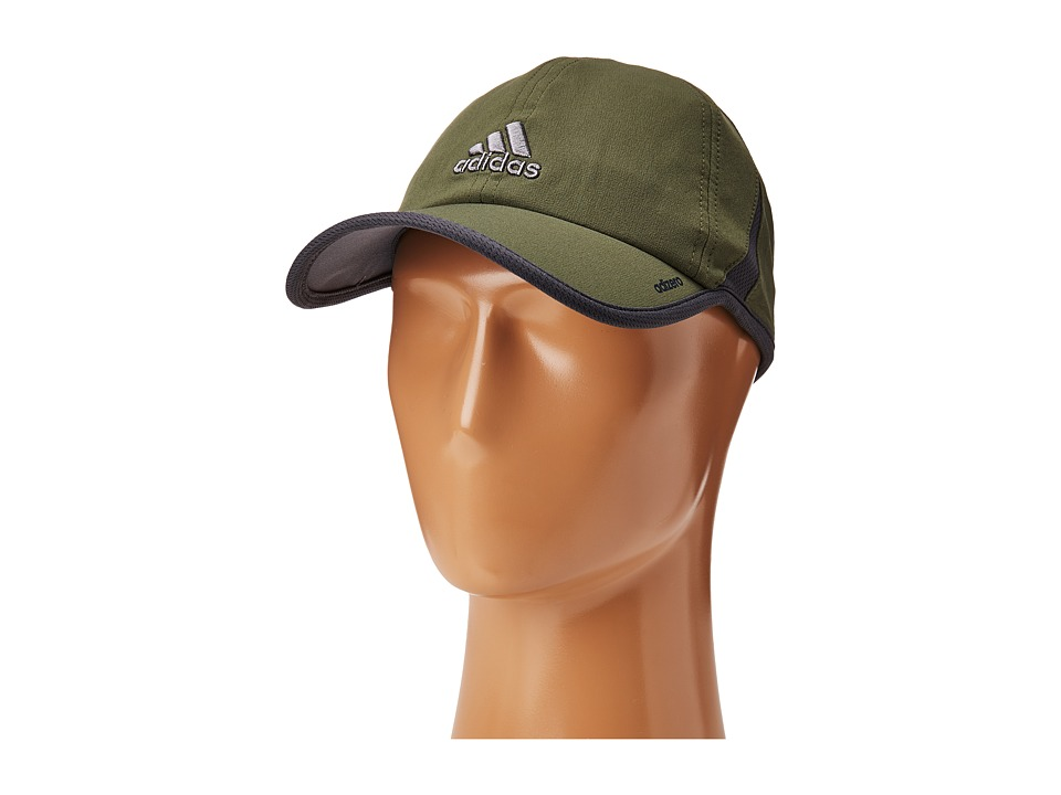 adidas - Adizero II Cap (Base Green/Dark Grey/Grey) Caps