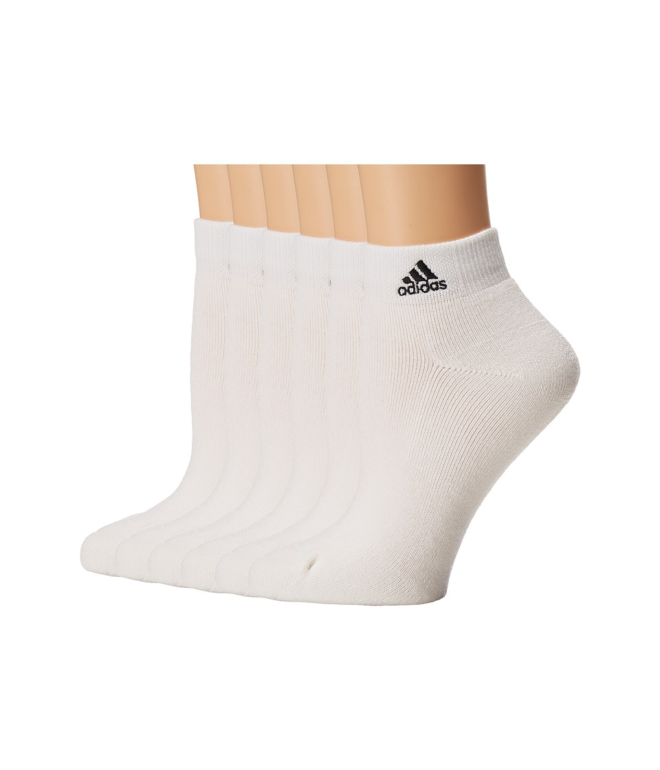 adidas - Team 6-Pack Low Cut (White/Black) Women's Low Cut Socks Shoes