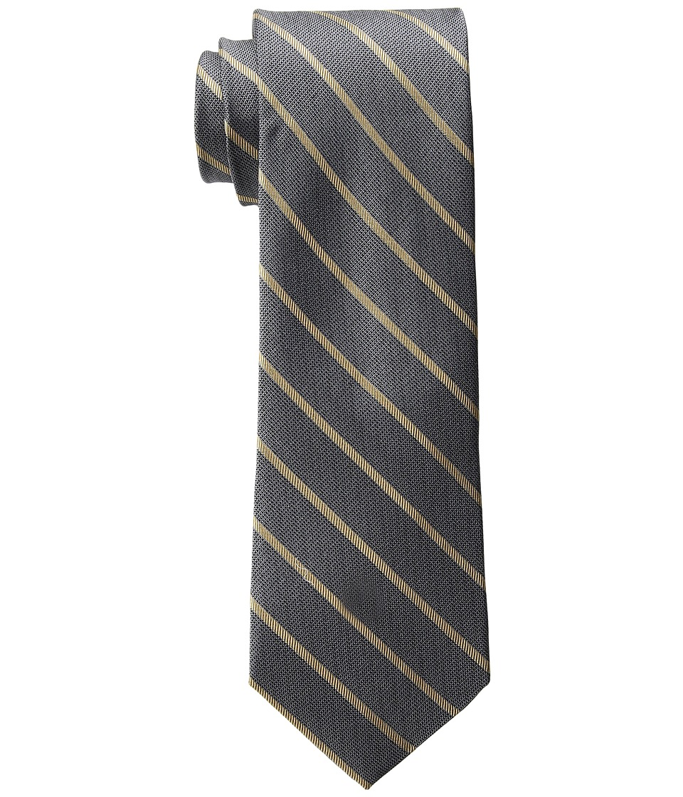 Calvin Klein - Glimmer Bar Stripe (Black) Ties