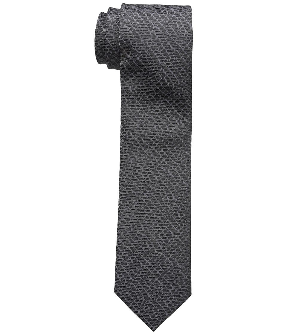 Calvin Klein - Croco Solid (Black) Ties