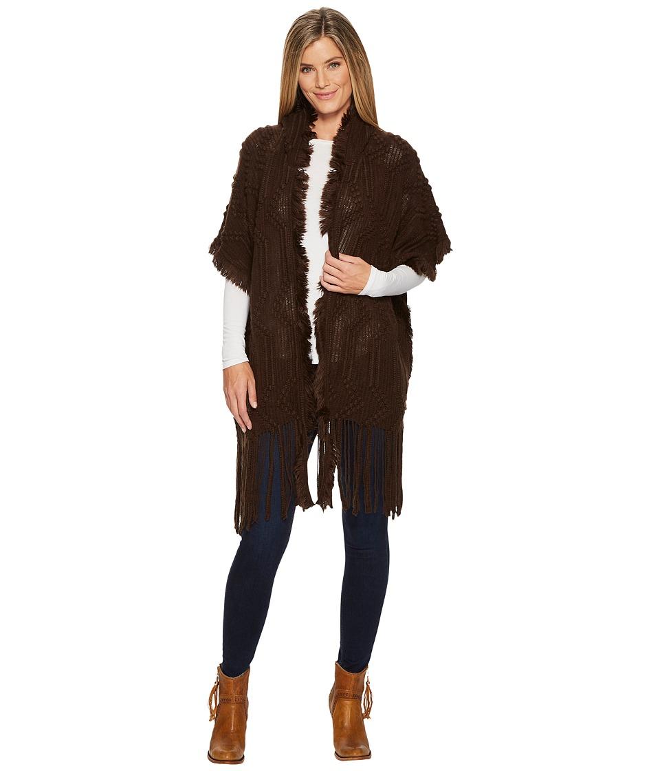 Wrangler Sweater Knit Cardigan (Brown) Women
