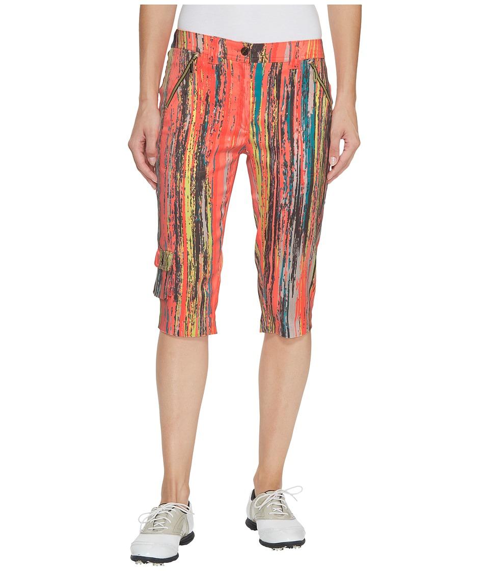 Jamie Sadock Skinnyliscious Parfait Print Fly Front 24.5 in. Knee Capris (Radiance) Women