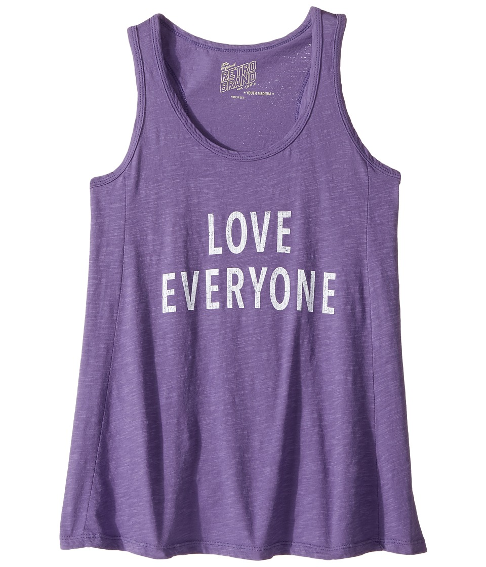 The Original Retro Brand Kids - Love Everyone Slub Racerback Tank Top (Big Kids) (Grape) Girl's Sleeveless