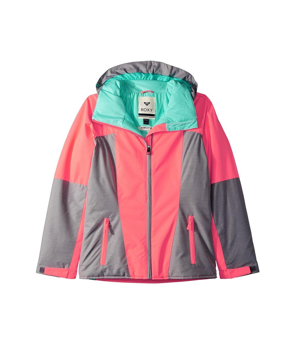 Roxy Kids Sassy Jacket (Big Kids) (Neon Grapefruit) Girl
