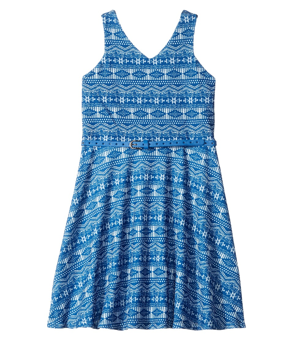Us Angels - Sleeveless Cutaway Fit and Flare Dress (Big Kids) (Royal) Girl's Dress