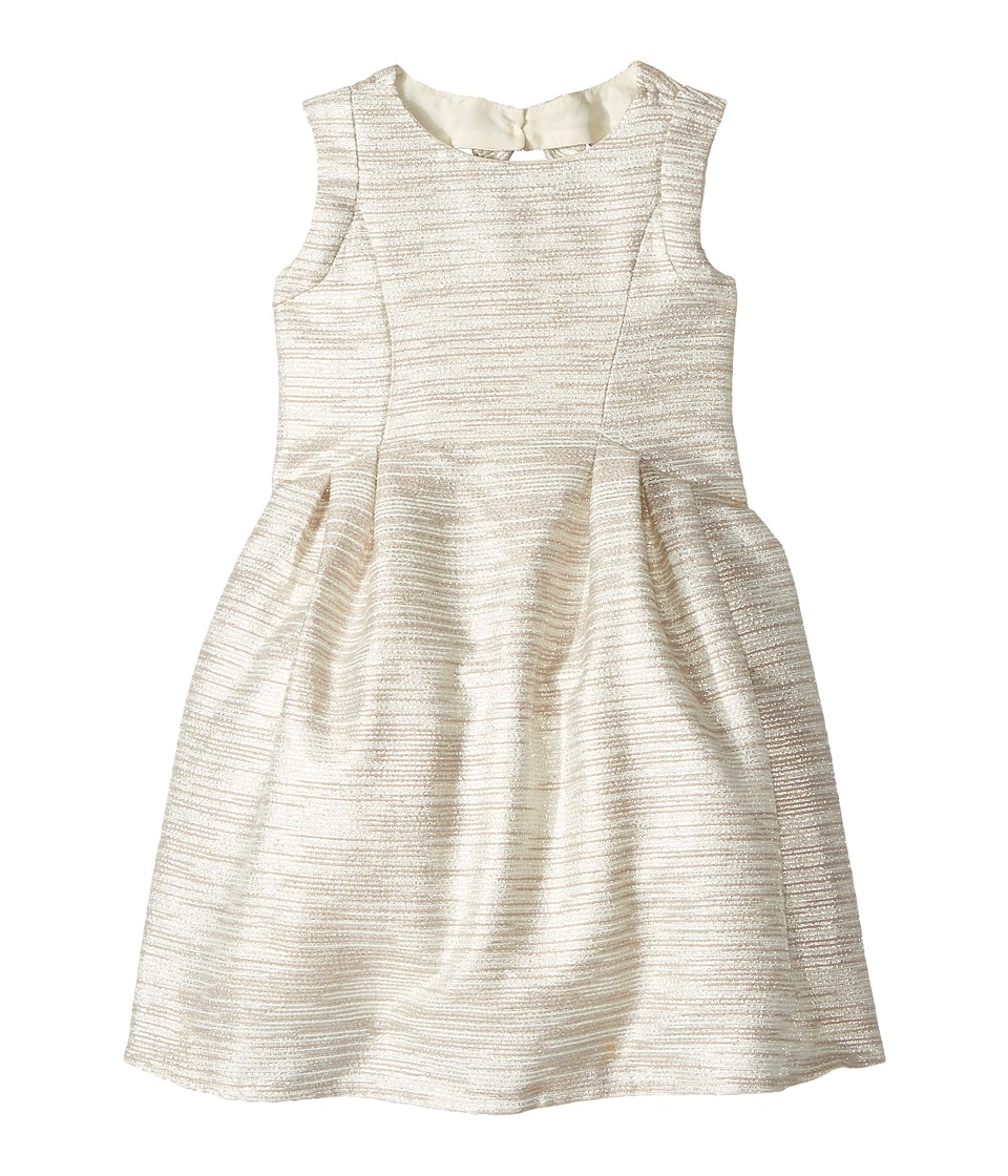 Us Angels - Sleeveless Cutaway Back with Box Pleat Skirt Dress (Toddler/Little Kids) (Beige) Girl's Dress