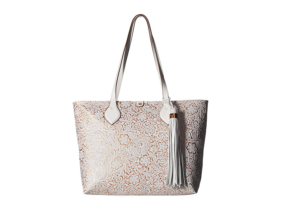 Tommy Bahama - Barbados Tote (White/Gold) Tote Handbags