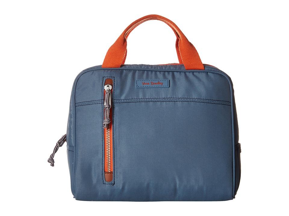 Vera Bradley - Lighten Up Lunch Cooler (Mineral Blue) Handbags