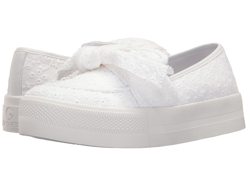 G by GUESS - Chippy (White Springtime Eyelets) Women's Slip on Shoes