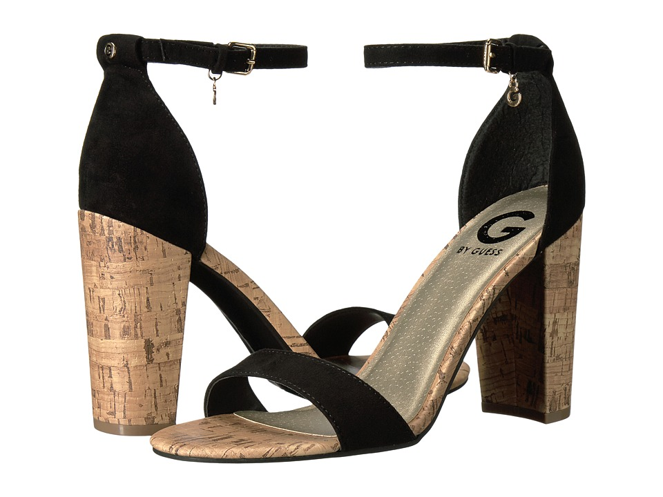 G by GUESS Shantel (Black Camoscio Suede Foxy) High Heels