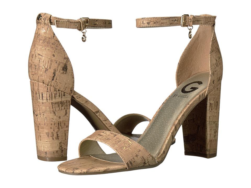 G by GUESS Shantel3 (Natural/Gold Cork Fleck PU) High Heels