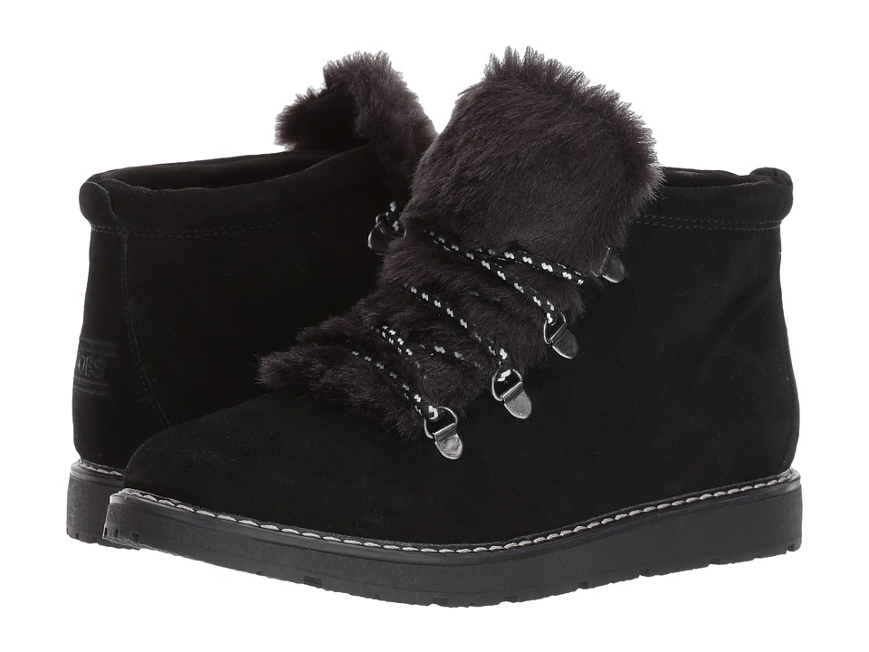 BOBS from SKECHERS Bobs Alpine Fur Eva (Black/Black) Women