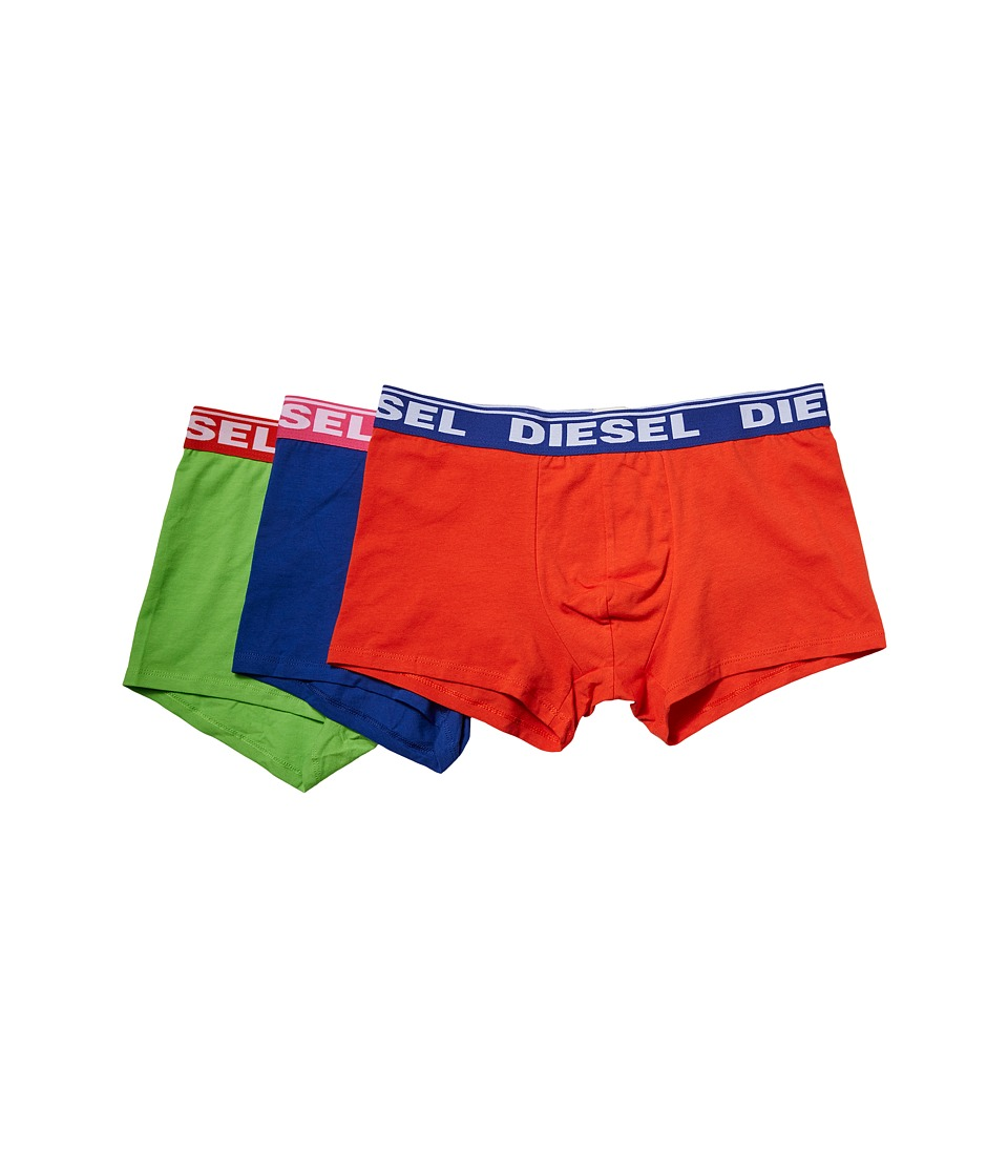 Diesel - Shawn Trunk GAFN 3-Pack (Green/Orange/Blue) Men's Underwear