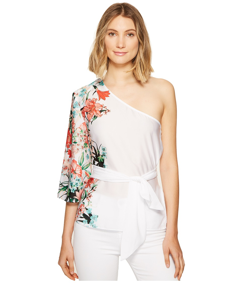XOXO - Printed One Shoulder Top w/ Tie (Multi) Women's Clothing