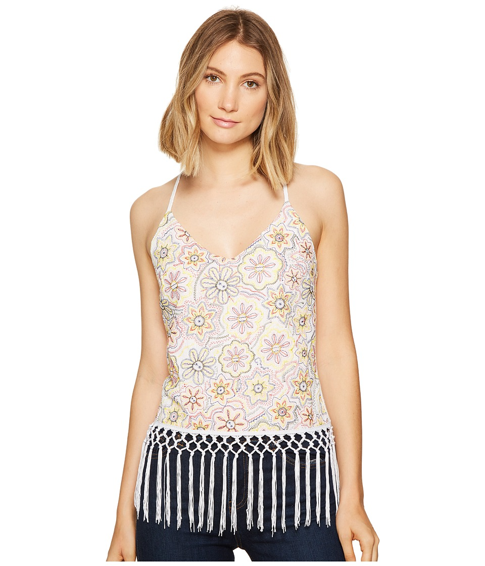 XOXO - Embroidered Cami (White) Women's Sleeveless