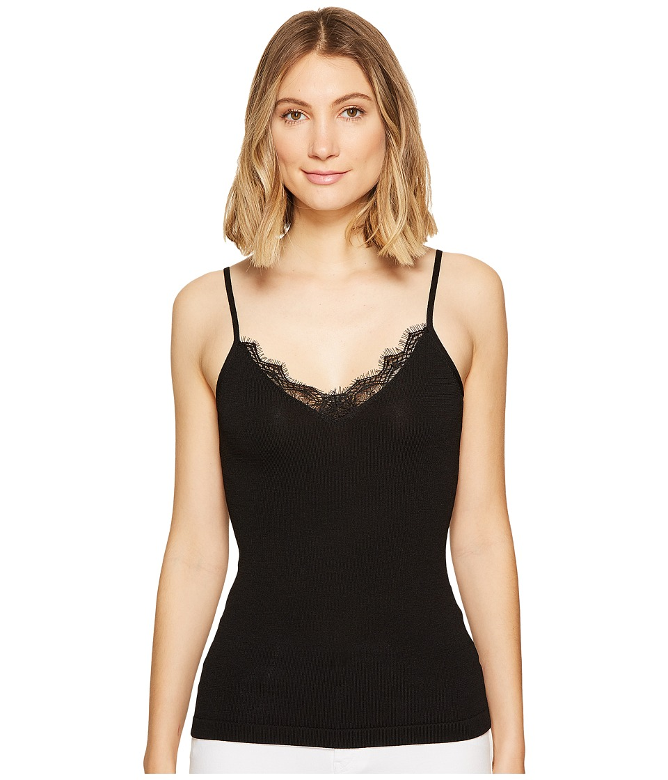 XOXO - Lace Trim Cami (Black) Women's Sleeveless