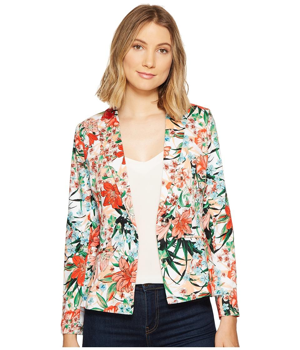 XOXO - Single Button Blazer w/ Welt Pockets (Multi) Women's Jacket
