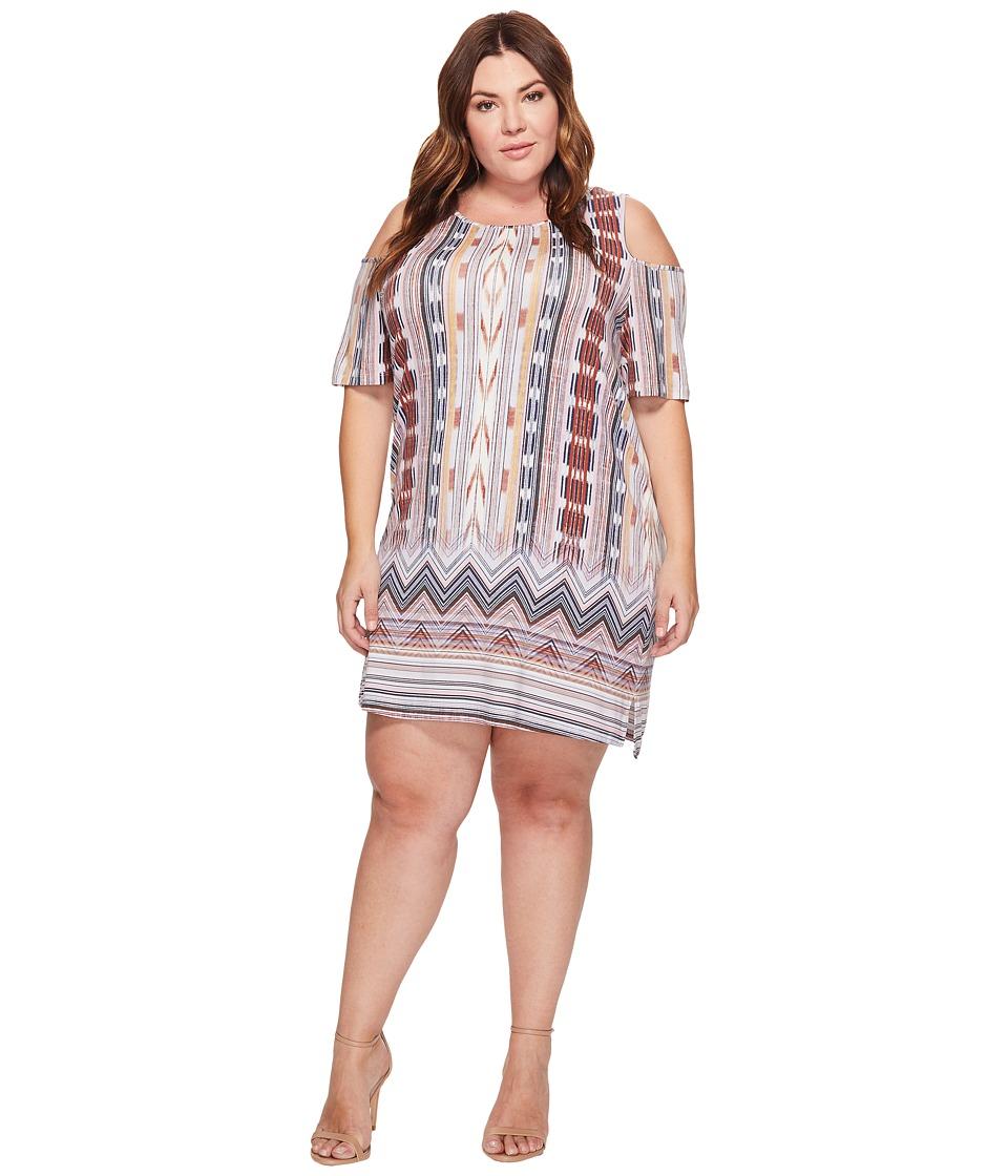 Tart - Plus Size Tabitha Dress (Ikat Border) Women's Dress