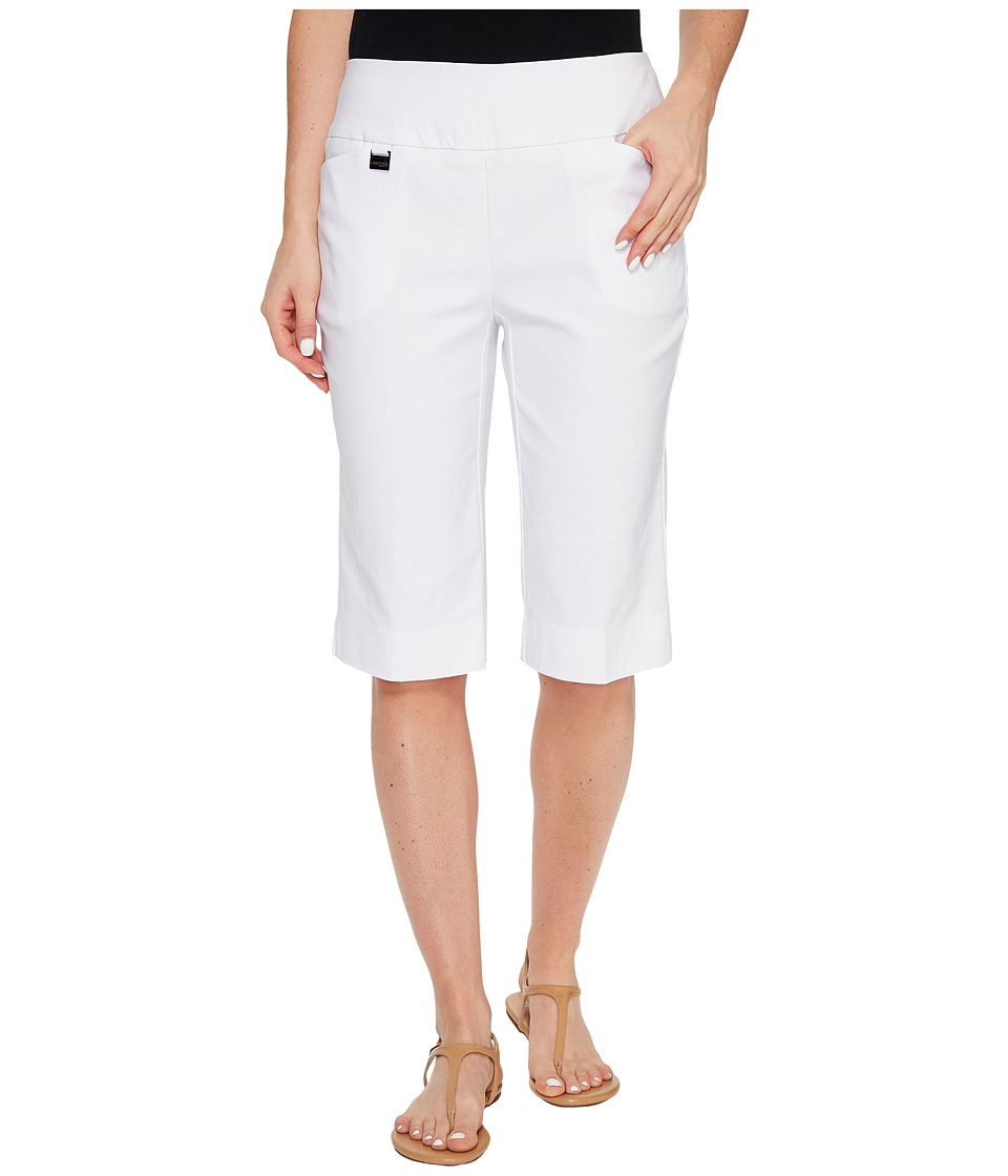 Lisette L Montreal - Solid Magical Lycra Bermuda Shorts (White) Women's Shorts