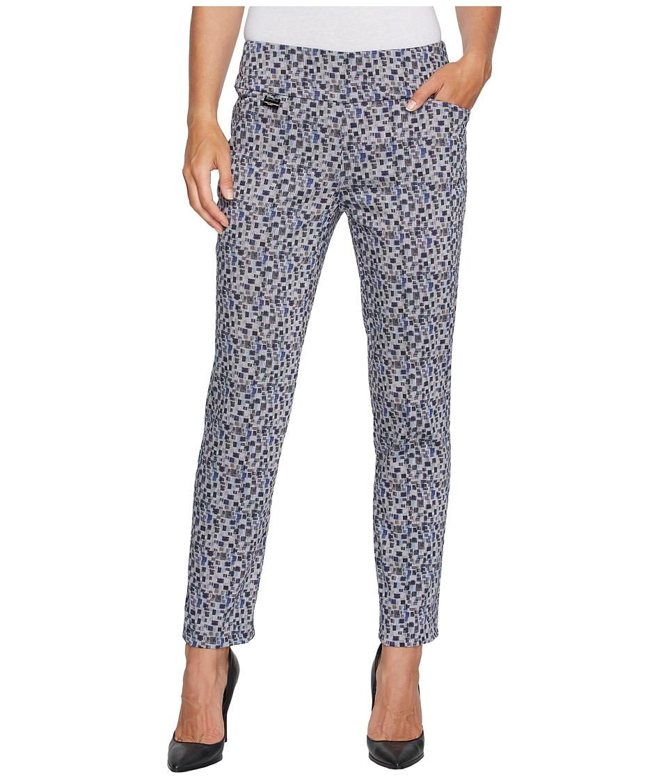 Lisette L Montreal - Tatami Print Ankle Pants (Marine Blue) Women's Casual Pants
