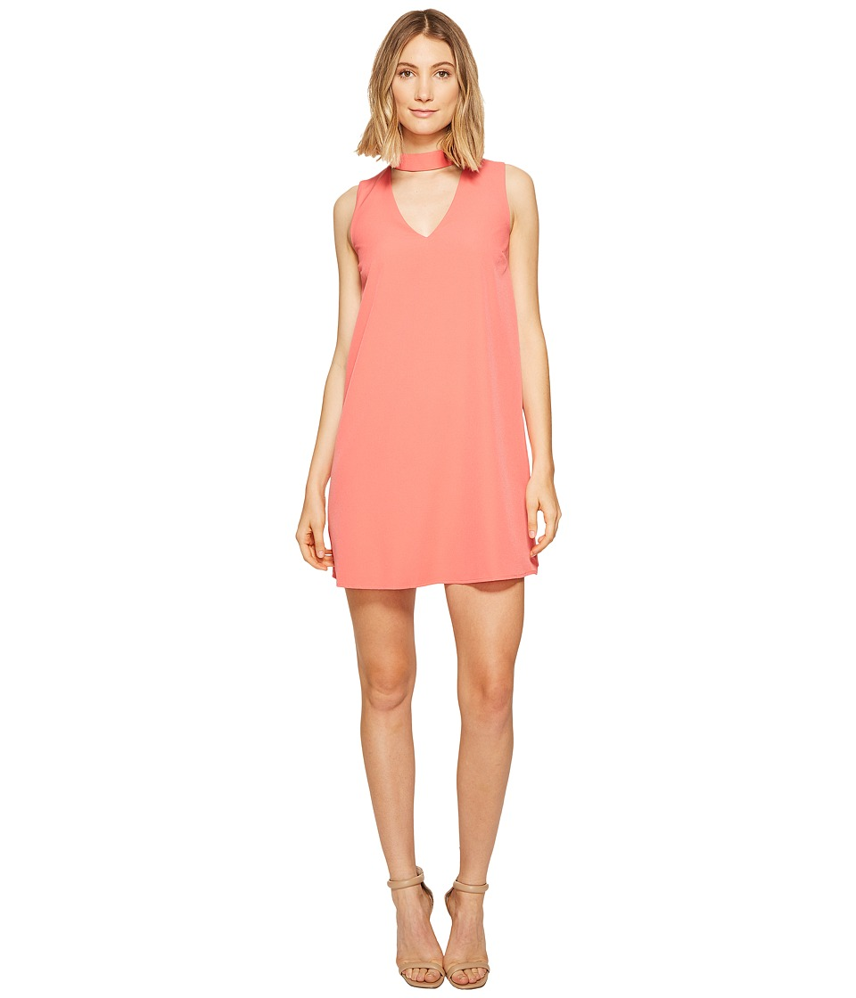 XOXO - Sleeveless Choker Dress (Salmon) Women's Dress