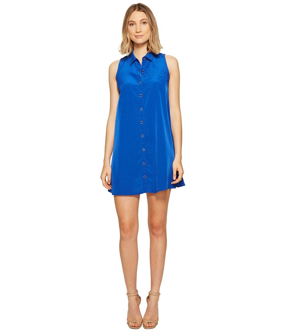 XOXO - Patch Pocket Shirtdress (Cobalt) Women's Dress