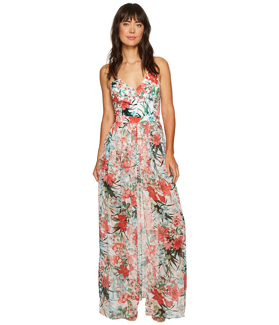 XOXO - Printed Romper Maxi (Multi) Women's Jumpsuit & Rompers One Piece