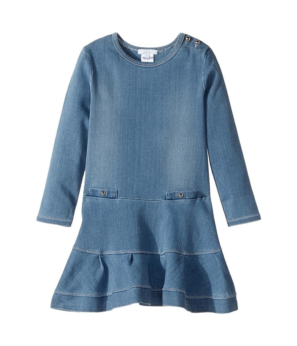Chloe Kids - Soft Denim Dress (Toddler/Little Kids) (Denim Blue) Girl's Dress