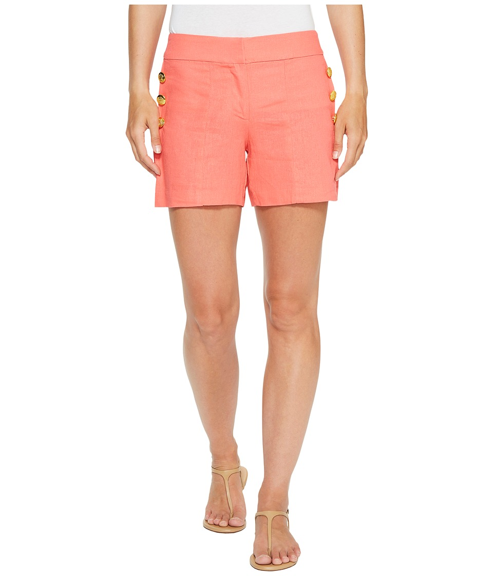 XOXO - Side Button Shorts (Salmon 8) Women's Shorts