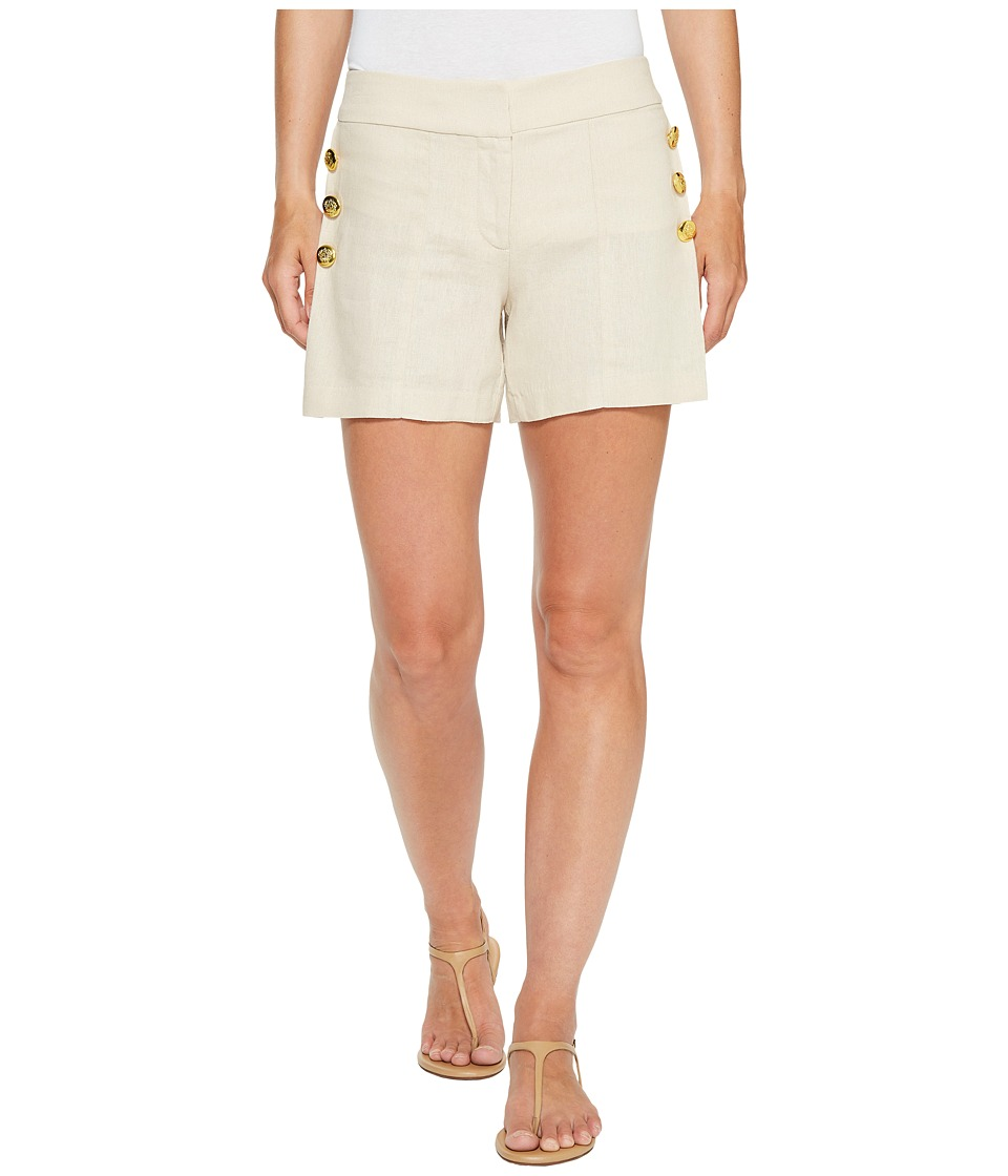 XOXO - Side Button Shorts (Natural 8) Women's Shorts
