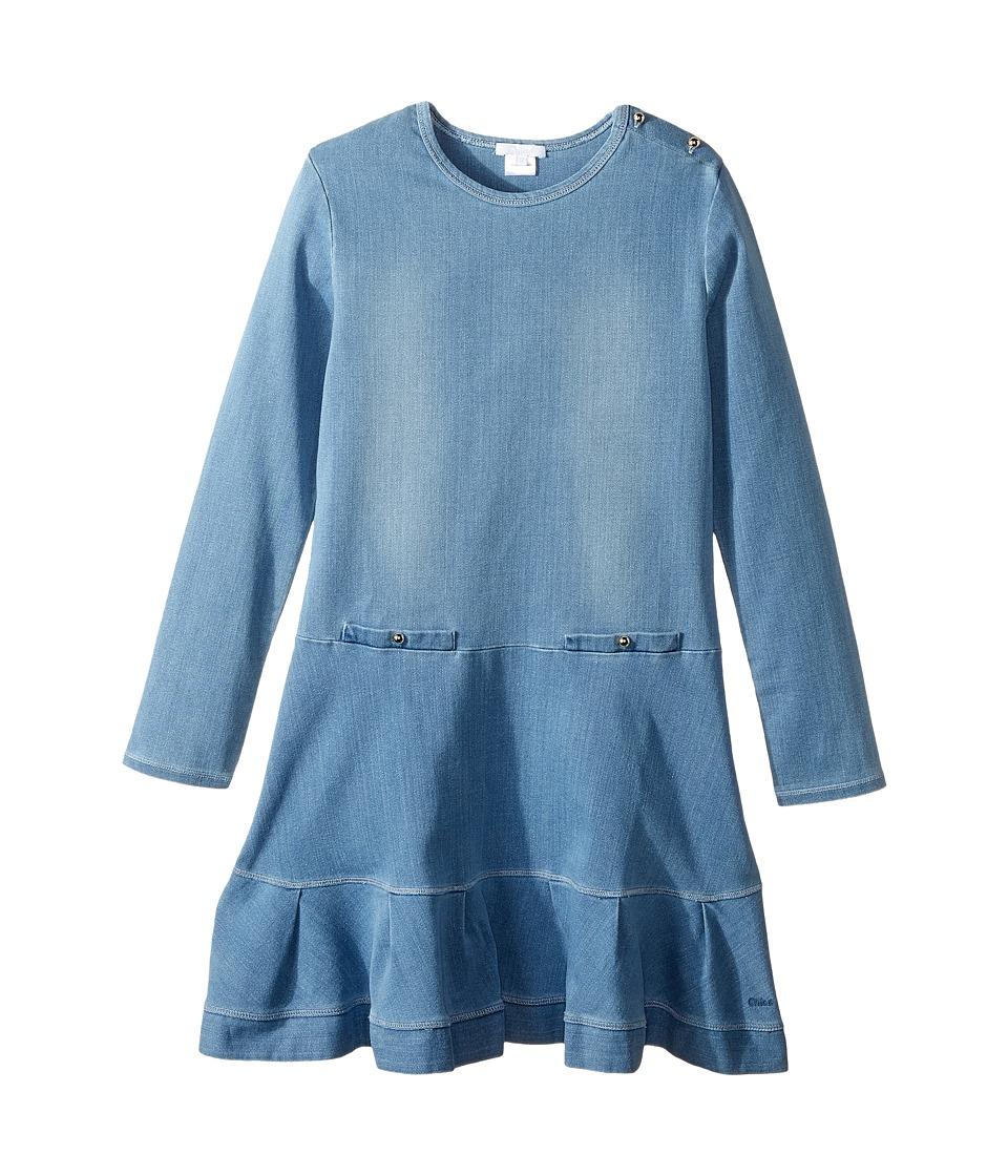 Chloe Kids - Soft Denim Dress (Big Kids) (Denim Blue) Girl's Dress