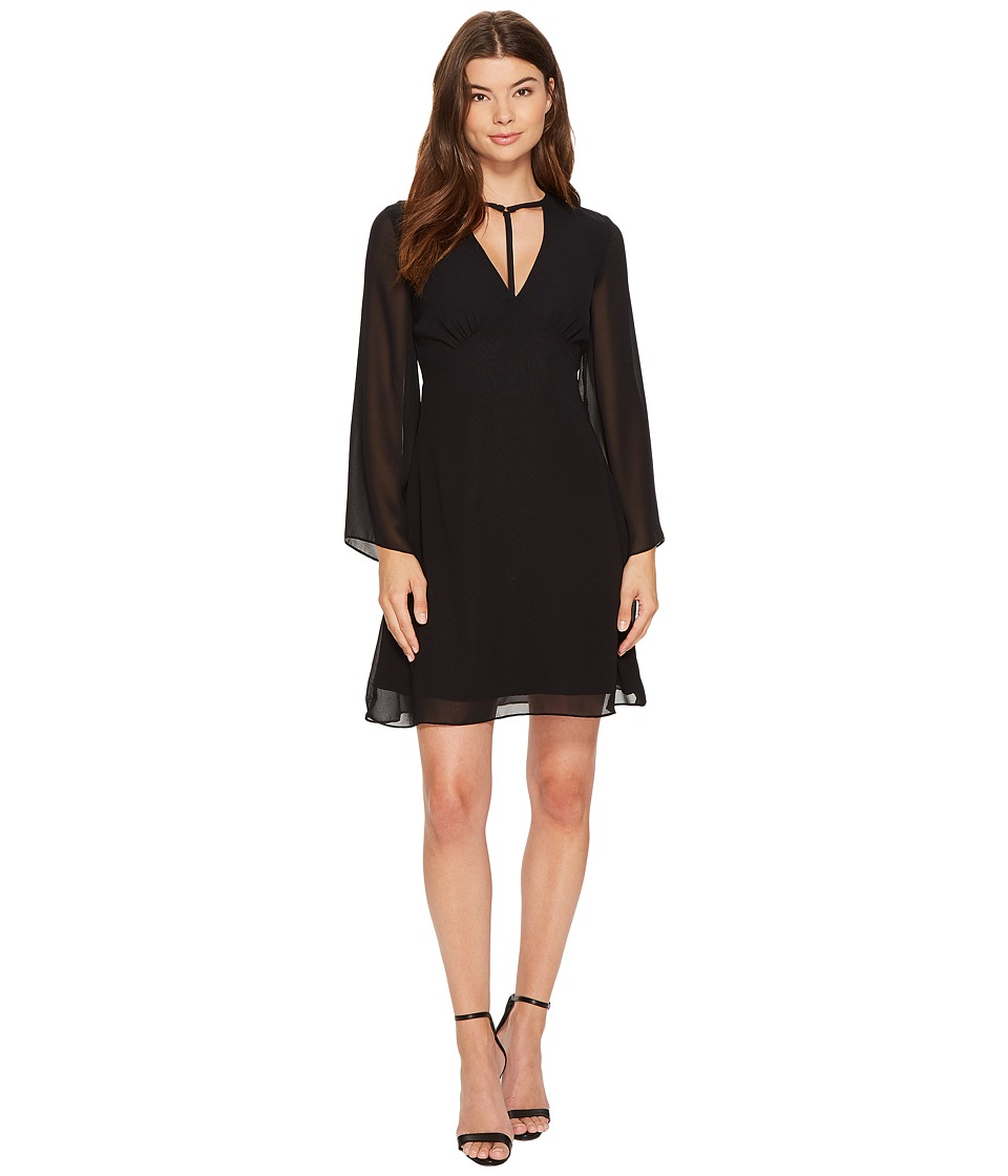XOXO - Harness Neck Dress (Black) Women's Dress