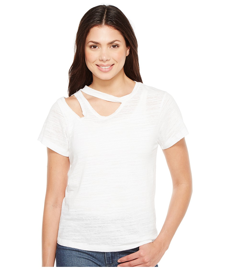 LNA - Double Cut Tee (White) Women's T Shirt