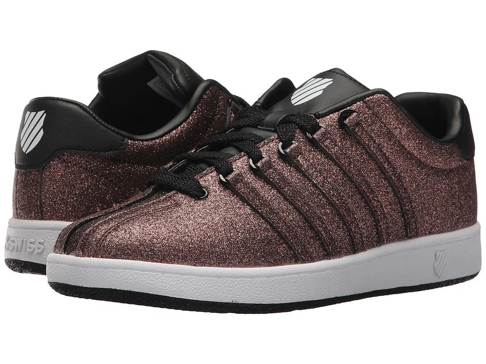 K-Swiss Kids Classic VNtm (Big Kid) (Bronze Sparkle) Girls Shoes