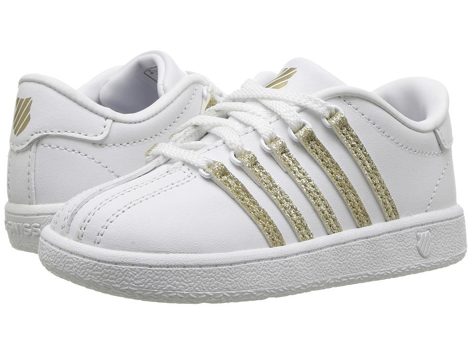K-Swiss Kids Classic VNtm (Infant/Toddler) (White Sparkle) Girls Shoes