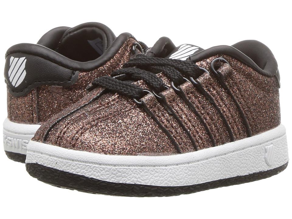 K-Swiss Kids Classic VNtm (Infant/Toddler) (Bronze Sparkle) Girls Shoes