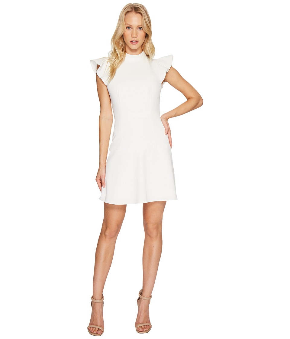 Rachel Zoe Twill Suiting Parma Dress (Ecru) Women