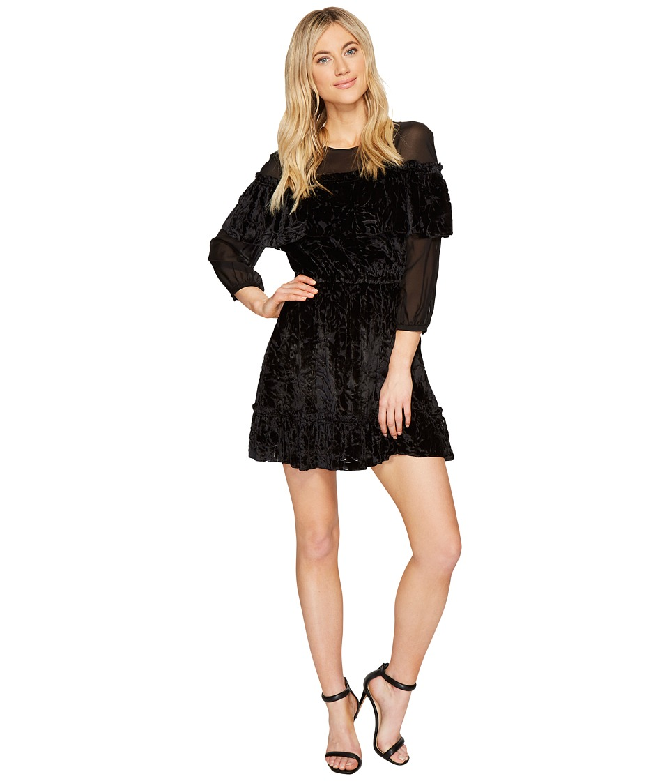 Rachel Zoe Velvet Burnout Pire Dress (Black) Women