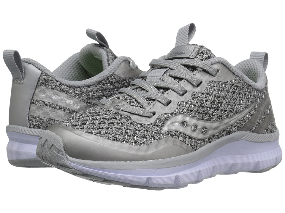 Saucony Kids Liteform Feel (Little Kid) (Light Grey) Girls Shoes