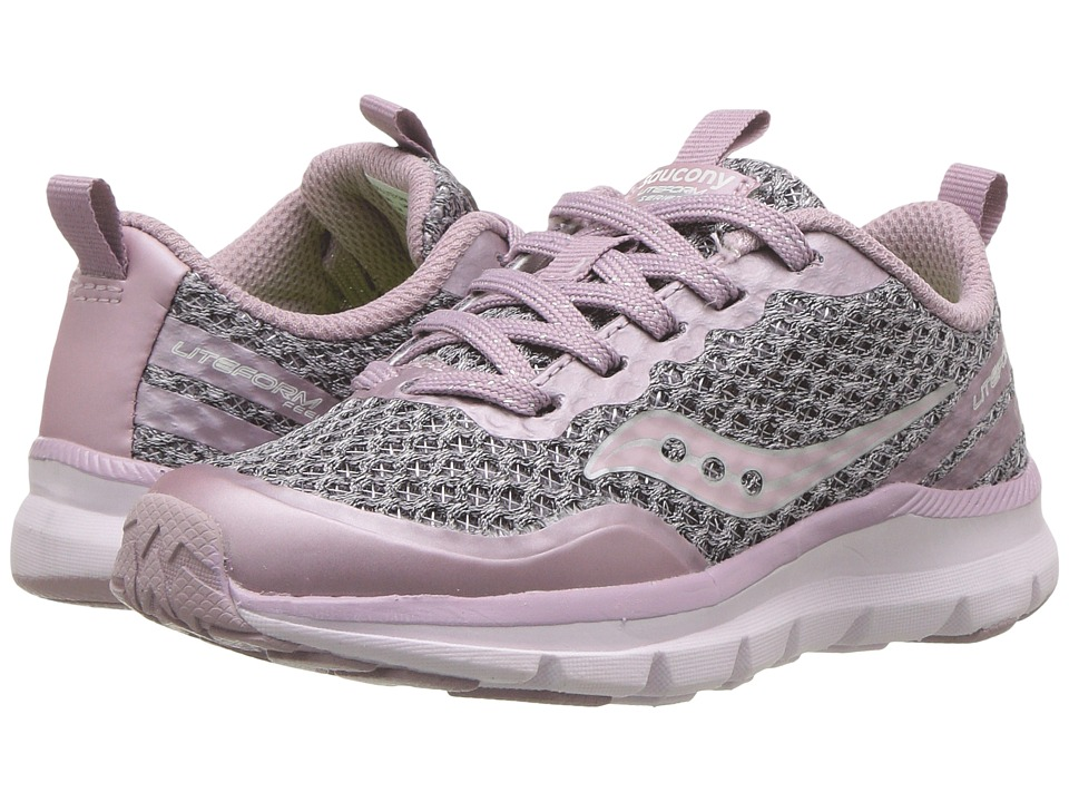 Saucony Kids Liteform Feel (Little Kid) (Blush) Girls Shoes