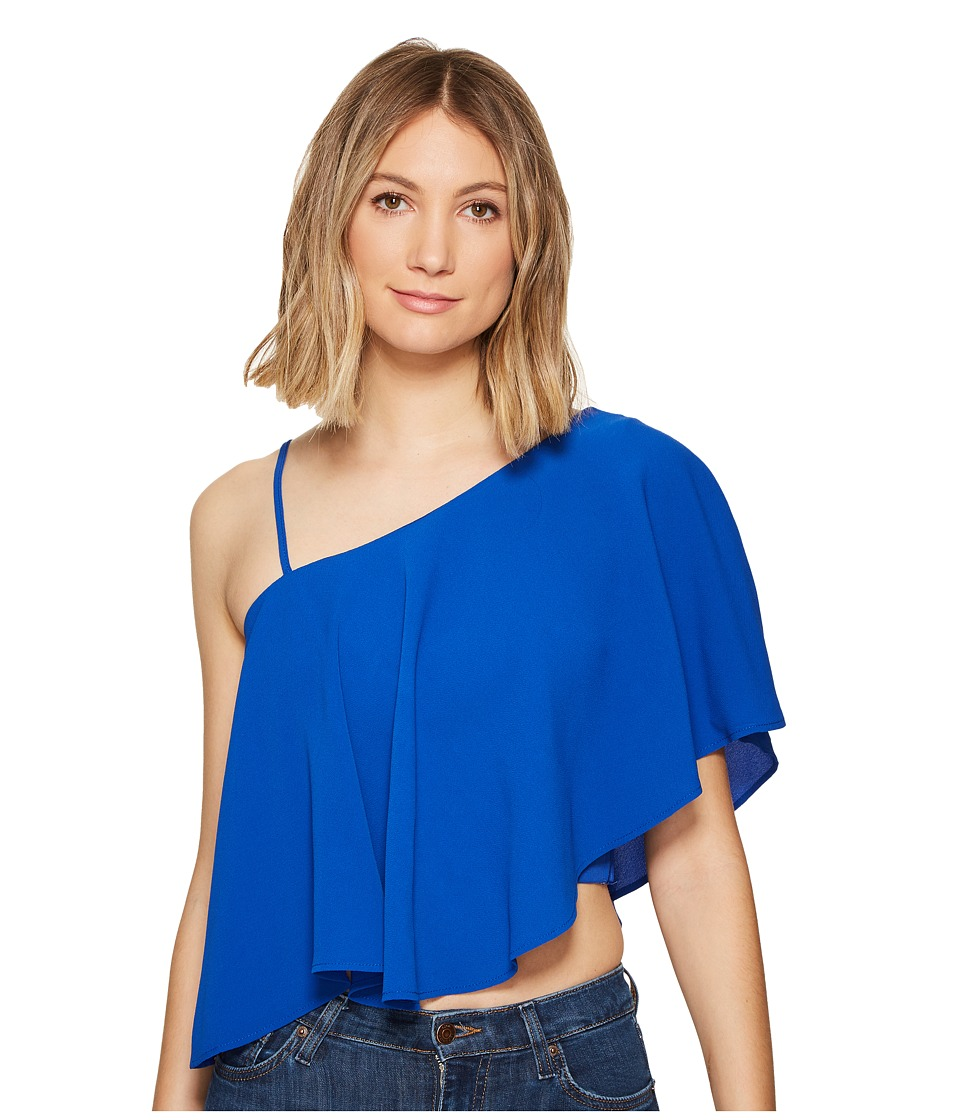 XOXO - One Shoulder Top (Cobalt/Cobalt/Academy) Women's Clothing