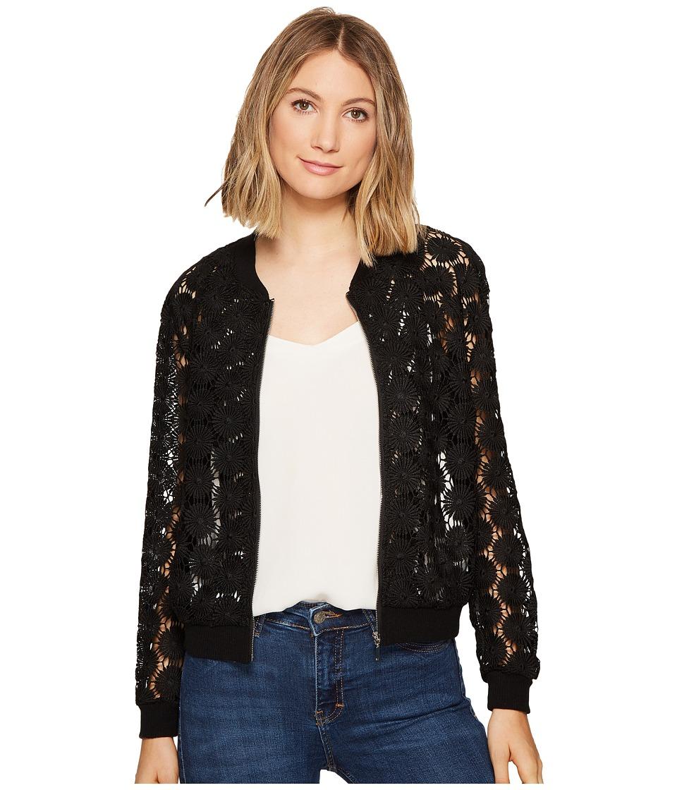 XOXO - Lace Bomber (Black) Women's Coat