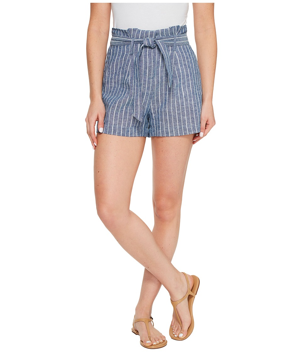 XOXO - Stripe Printed Shorts (Ivory/Navy) Women's Shorts