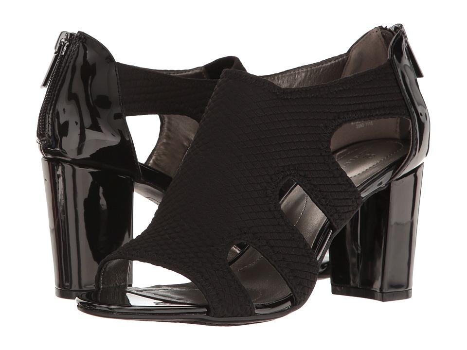 Bandolino - Ambber (Black/Black Fabric) Women's Shoes