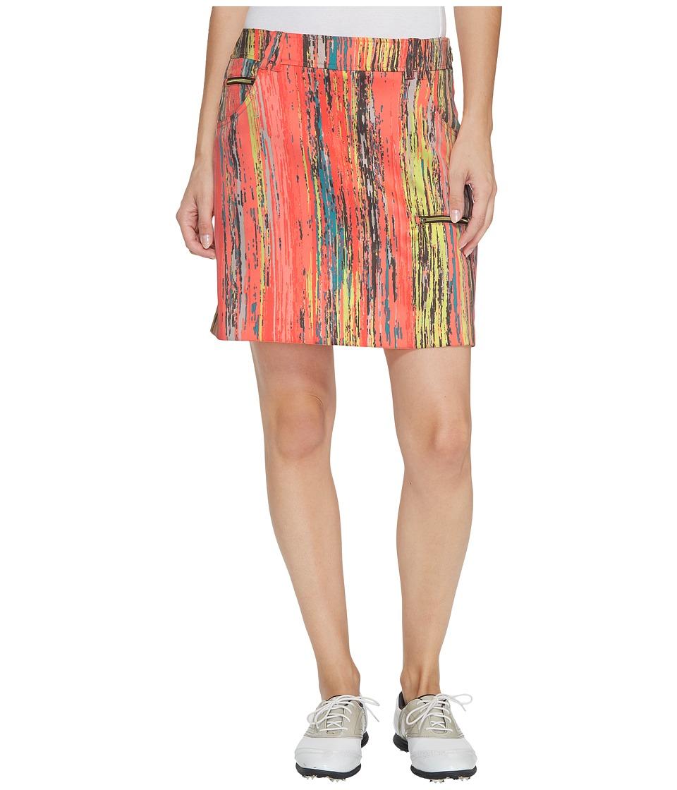 Jamie Sadock Skinnylicious Parfait Print Side Zip and Button 18 in. Skort (Radiance) Women